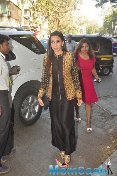 Karisma Kapoor Arrived For Launching The Anjali Jani Flagship Store In Mumbai