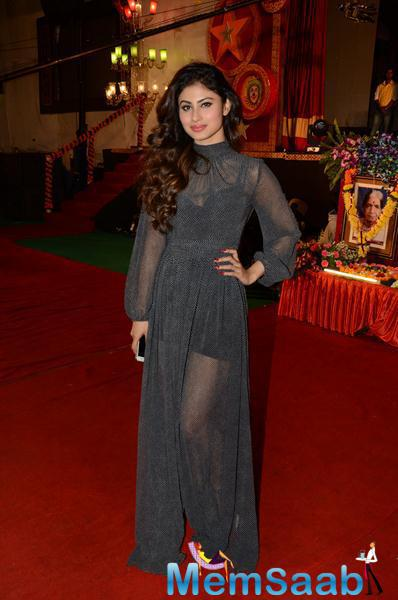 Television Actress Mouni Roy Looked Gorgeous In Her Black Attire At 34th Annual Day Celebration Of Children Welfare Centre