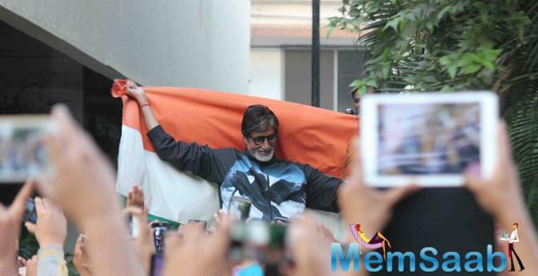 Amitabh Bachchan Drape The National Flag Over Your Shoulders