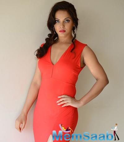Neetu Chandra In Red Dress Gorgeous Look Photo Shoot Still