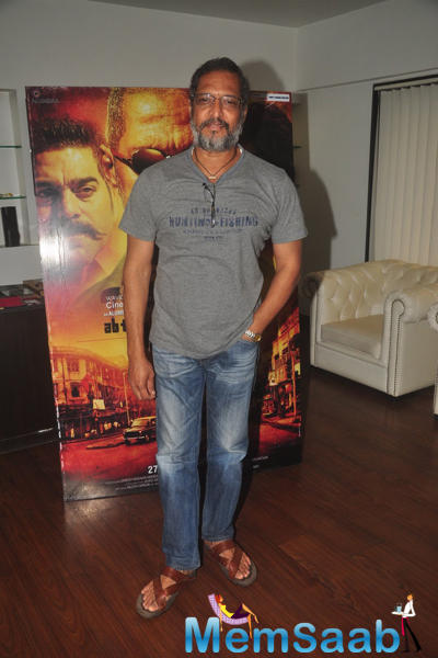 Nana Patekar Cool Smiling Pose During Ab Tak Chhappan 2 Press Meet