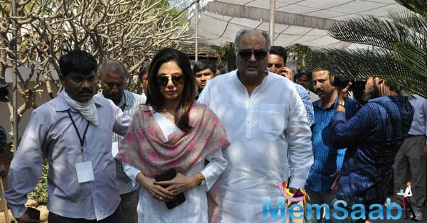 Sridevi Kapoor And Boney Kapoor Arrived To Pay Last Respects To Daggubati Ramanaidu