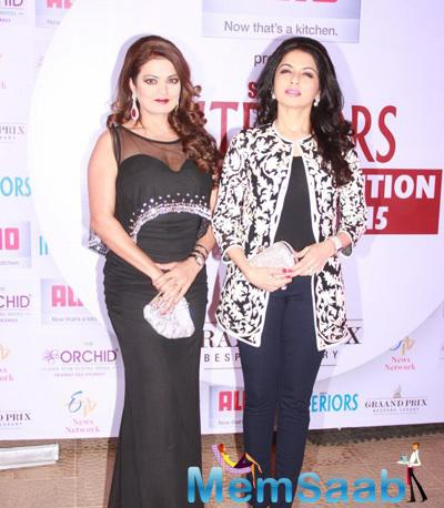 Bhagyashree Looks Stunning At The 13th Society Interiors Design Competition And Awards