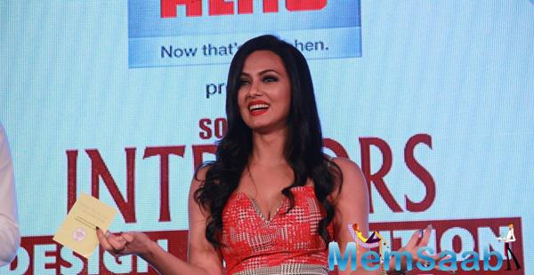 Sana Khan Among Other Bolly Celebs At The 13th Society Interiors Design Competition And Awards