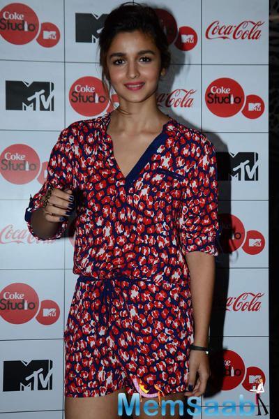 Alia Bhatt Looks Lovely At The MTV Coke Studio Season 4 Launch