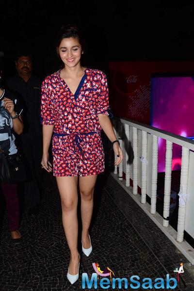 Alia Bhatt Spotted At The MTV Coke Studio Season 4 Launch