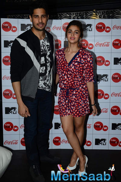 Rumoured Lovers Alia And Sidharth At The Launch Of The Season 4 Of The Much-Awaited MTV Coke Studio