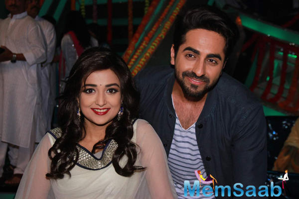 Actor Singer Ayushmann Khurrana Visit On The Sets Of Singing Reality Show
