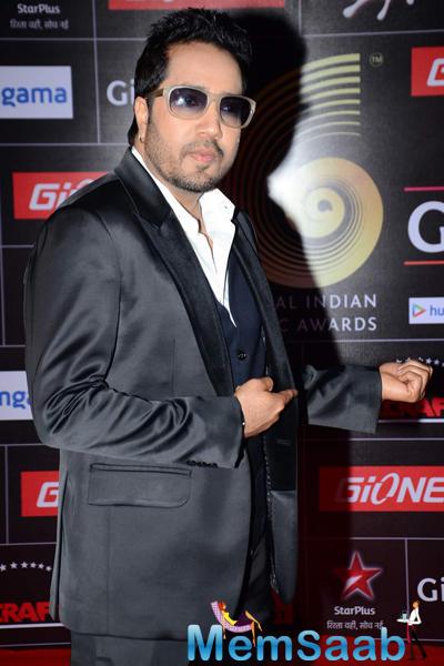 Mika Singh Present At The GiMA 2015 Awards