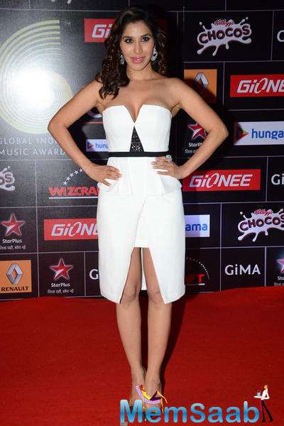 Sophie Choudry On Red Carpet At The GiMA 2015 Awards