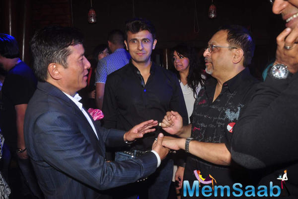 Sonu Nigam Attend Bickram Ghosh Album Launch Event