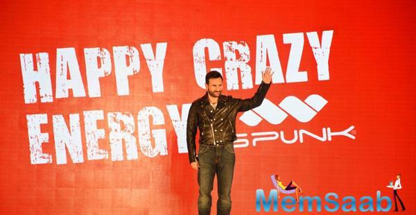 Brand Ambassador Saif Ali Khan At The Launch Of Fashion Brand Spunk