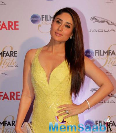Kareena Kapoor Khan Beautiful Look At The Ciroc Filmfare Glamour And Style Awards 2015