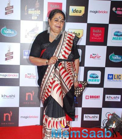 Singer Usha Uthup Clicked At The 7th Mirchi Music Awards 2015