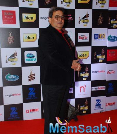 Subhash Ghai Attend The 7th Mirchi Music Awards 2015
