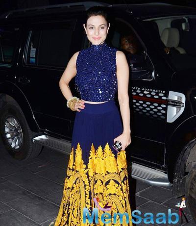 Ameesha Patel Radiant Look At Tulsi Kumar And Hitesh Wedding Reception