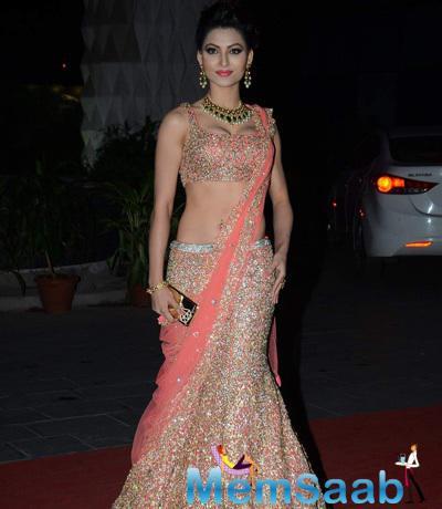 Urvashi Rautela Beautiful Gorgeous Look At Tulsi Kumar And Hitesh Wedding Reception