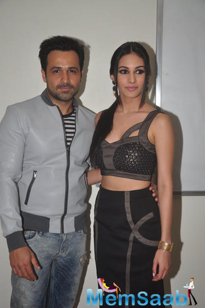 Emraan Hashmi And Amyra Dastur Posed For Camera At Mr. X First Look Launch