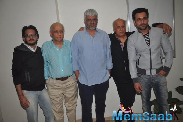 Emraan Hashmi And Bhatts Clicked During The Mr. X First Look Launch Event