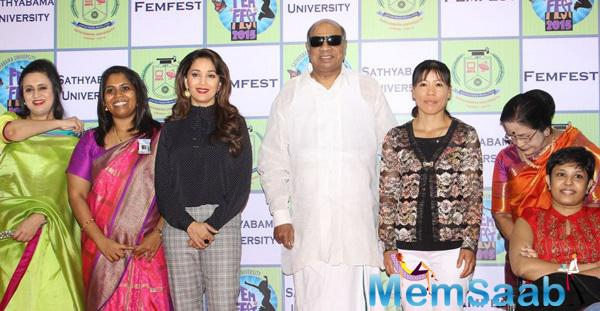 Madhuri Dixit Attended Sathyabama University's International Women's Day