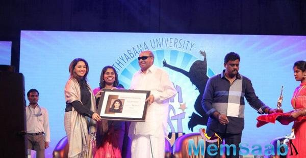 Madhuri Dixit Honoured On International Women's Day By Sathyabama University