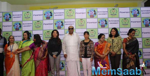 Madhuri Dixit Spotted International Women's Day Event By Sathyabama University