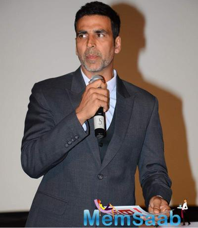 Akshay Kumar Addresses The Media During The Launch Of Best Deal TV Channel