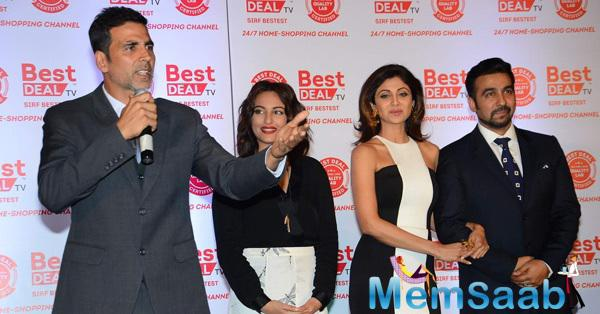 Akshay Kumar,Sonakshi Sinha,Shilpa Shetty And Raj Kundra Launched Best Deal TV Channel