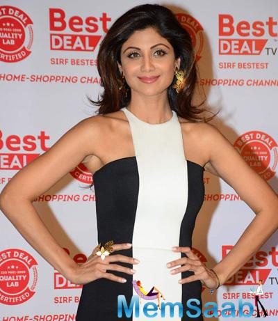 Shilpa Shetty Posed During The Launch Of Best Deal TV Channel