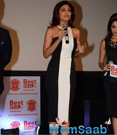 Shilpa Shetty Spoke Few Words At The Launch Of Best Deal TV Channel