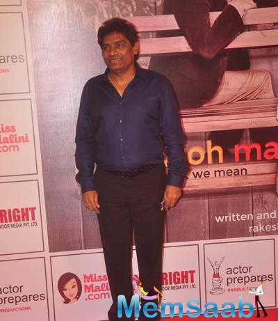 Johnny Lever Attend The Premiere Of Anupam Kher New Play Mera Who Matlab Nahi Tha