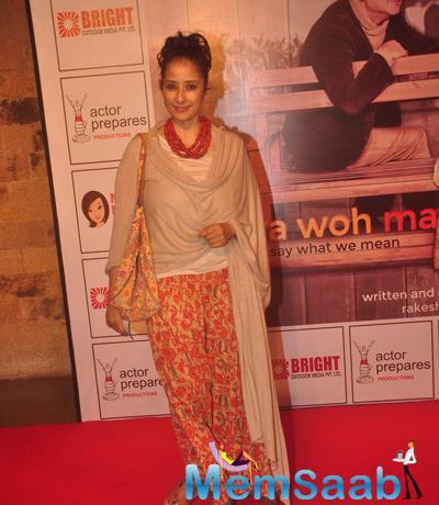 Manisha Koirala Present At The Premiere Of Anupam Kher New Play Mera Who Matlab Nahi Tha
