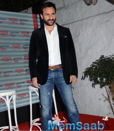 Saif Ali Khan Dappers Simple Look At Visit Britain Event