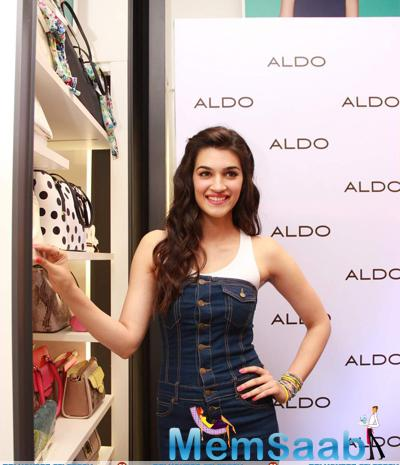Kriti Sanon Spotted Launching ALDO Spring Summer 2015 Collection In Mumbail.