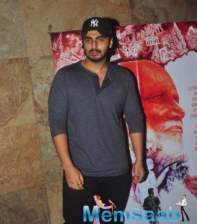 Arjun Kapoor Posed For Camera During The Screening Of Documentary Film In Their Shoes