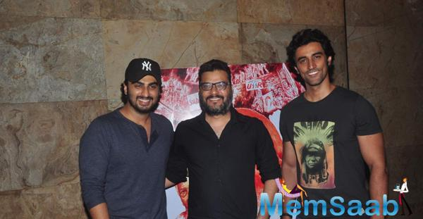 Arjun Kapoor,Atul Sabharwal And Kunal Kapoor Clicked During The Screening Of Documentary Film In Their Shoes
