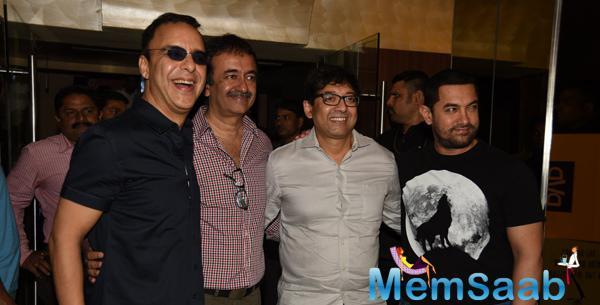 Aamir, Rajkumar Hirani, Vidhu Vinod Chopra And Others At Film PK's Dvd Launch