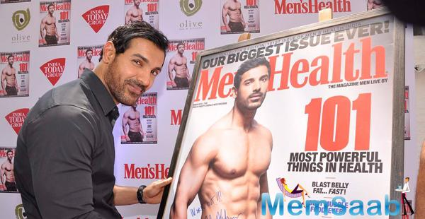 John Abraham Dazzling Look At The Launch Of Men's Health Magazine Cover Page