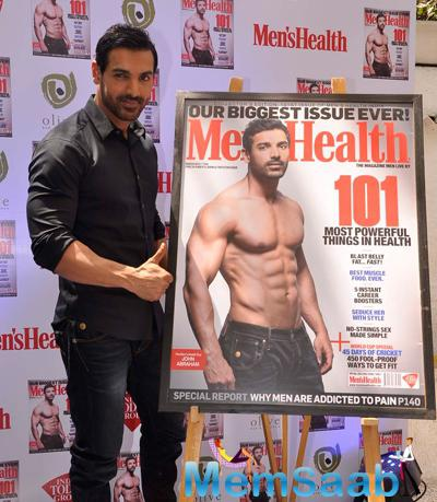 John Abraham Unveiled The Cover Of The 101st Issue Of Men's Health Magazine
