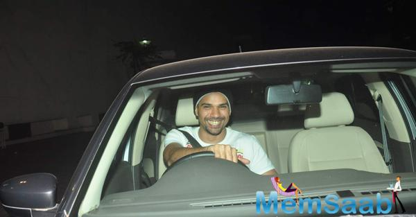 Cool Neil Bhoopalam Driving Pose During The Screening Of NH10