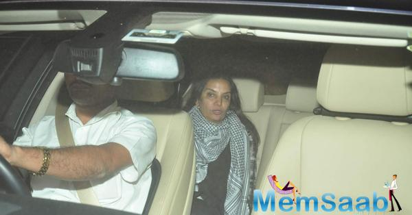 Shabana Azmi Snapped In Her Car At The Screening Of NH10