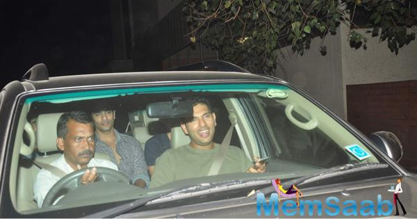 Yuvraj Singh Arrived To Attend The Screening Of NH10