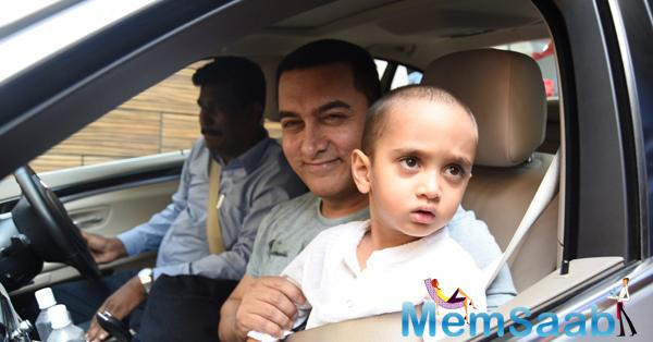 Aamir Khan Leaves With Son Azad For B'day Bash