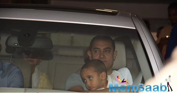 Aamir Khan Was Clicked With Son Azad Rao Khan For His Birthday Bash