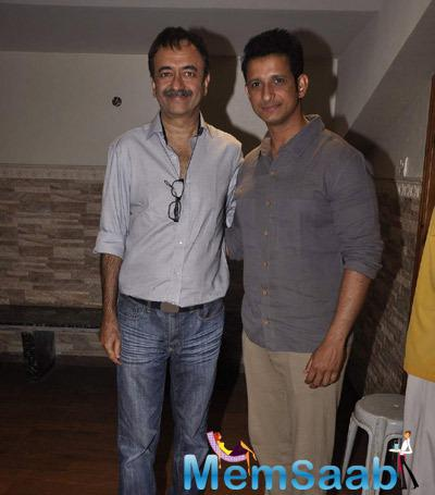 Rajkumar And Sharman Pose During The Screening Of Unfaithfully Yours