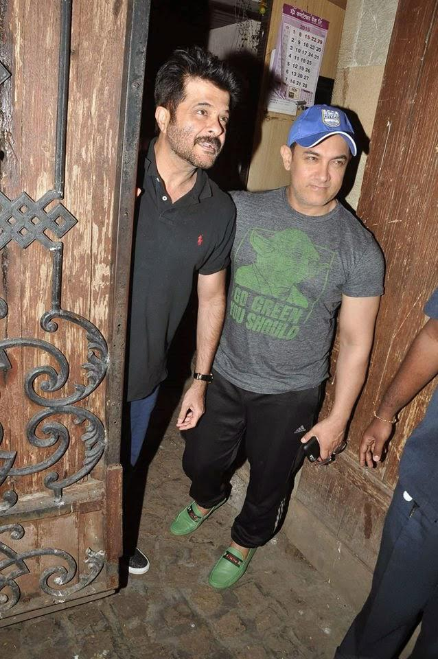 Aamir Then Dropped In At Anil Kapoor's Residence