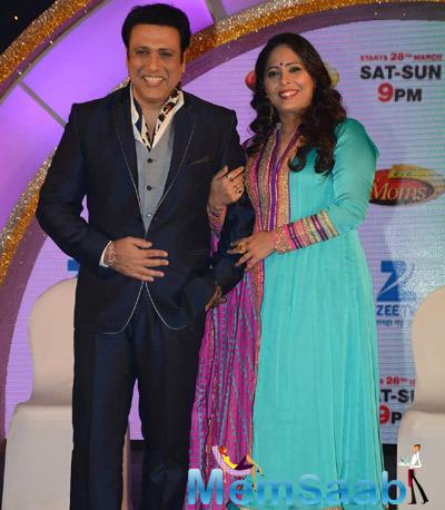 Govinda And Geeta At The Launch Of Dance India Dance Super Moms At JW Marriott In New Delhi