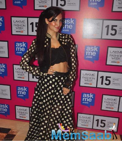 Elli Avram Attended The First Show Of Lakme Fashion Week Summer-Resort 2015