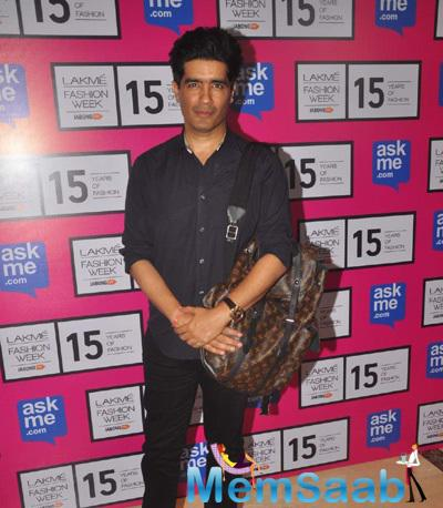 Manish Malhotra At The First Show Of Lakme Fashion Week Summer-Resort 2015