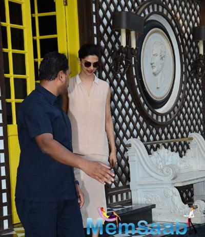 The Actress Deepika Padukone Was Clicked At Gauri Khan's Interior Design Store